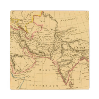 Asia antigua posavasos de madera