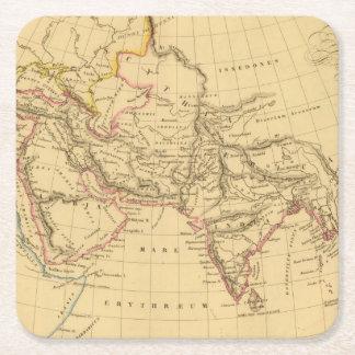 Asia antigua posavasos personalizable cuadrado