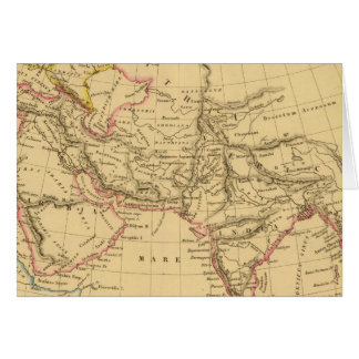 Asia antigua tarjeta de felicitación