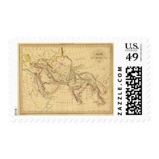 Asia antigua timbre postal