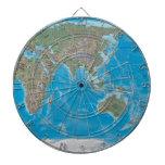 Asia, Australia, and the World Map Dartboard