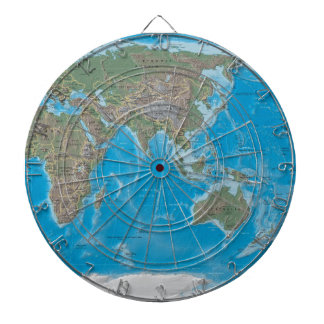 Asia, Australia, and the World Map Dartboard
