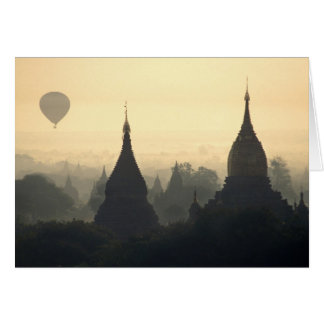 Asia, Birmania, (Myanmar), (Bagan) aire caliente p Tarjeta De Felicitación