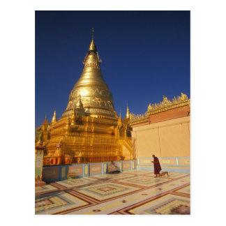 Asia, Birmania (Myanmar) Mandalay, colina de Sagai Tarjeta Postal