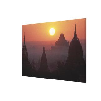 Asia, Birmania, (Myanmar), Pagan (Bagan) el templo Impresiones En Lona