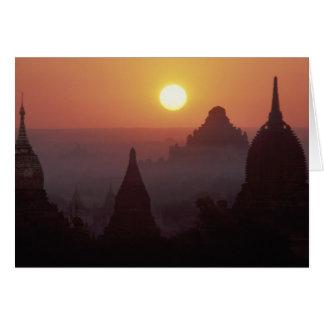 Asia, Birmania, (Myanmar), Pagan (Bagan) el templo Tarjeta De Felicitación