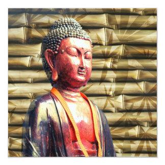 Asia Buddha 5.25x5.25 Square Paper Invitation Card