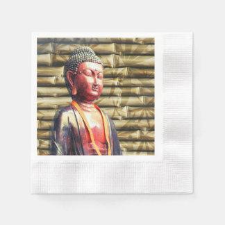 Asia Buddha Coined Cocktail Napkin