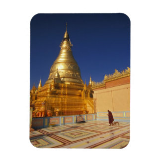 Asia, Burma (Myanmar) Mandalay, Sagaing Hill: Rectangular Photo Magnet