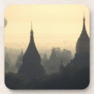 Asia, Burma, (Myanmar), Pagan (Bagan) Hot Air Drink Coasters