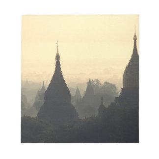 Asia, Burma, (Myanmar), Pagan (Bagan) Hot Air Notepad