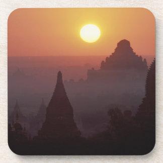 Asia, Burma, (Myanmar), Pagan (Bagan) The temple Drink Coasters