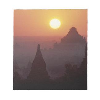 Asia, Burma, (Myanmar), Pagan (Bagan) The temple Notepad