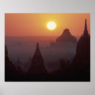 Asia, Burma, (Myanmar), Pagan (Bagan) The temple Poster