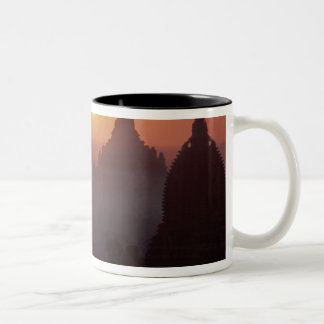Asia, Burma, (Myanmar), Pagan (Bagan) The temple Two-Tone Coffee Mug