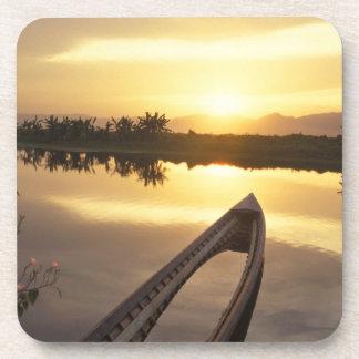 Asia, Burma (Myanmar) Sunken fishing boat Beverage Coasters