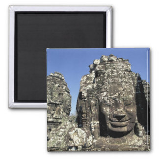 Asia, Cambodia, Siem Reap, Angkor Thom (b. Late 2 Inch Square Magnet