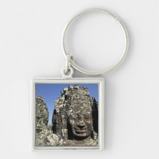 Asia, Cambodia, Siem Reap, Angkor Thom (b. Late Silver-Colored Square Keychain