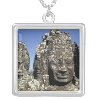 Asia, Cambodia, Siem Reap, Angkor Thom (b. Late Square Pendant Necklace