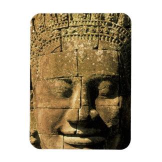 Asia, Cambodia, Siem Reap. Angkor Thom, heads of 2 Rectangular Photo Magnet
