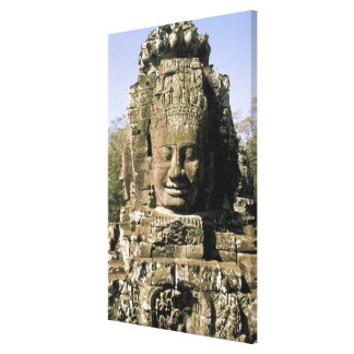 Asia, Cambodia, Siem Reap. Angkor Thom, heads of Canvas Print