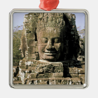 Asia, Cambodia, Siem Reap. Angkor Thom, heads of Metal Ornament