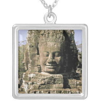 Asia, Cambodia, Siem Reap. Angkor Thom, heads of Square Pendant Necklace