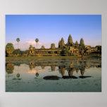Asia, Cambodia, Siem Reap. Angkor Wat. 2 Poster