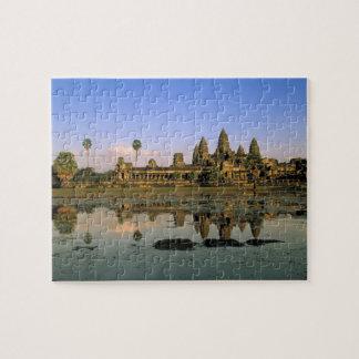 Asia, Cambodia, Siem Reap. Angkor Wat. 2 Puzzles
