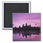 Asia, Cambodia, Siem Reap, Angkor Wat (b. 12th 2 2 Inch Square Magnet