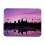 Asia, Cambodia, Siem Reap, Angkor Wat (b. 12th 2 Rectangular Magnet