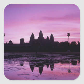 Asia, Cambodia, Siem Reap, Angkor Wat (b. 12th 2 Square Sticker