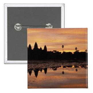 Asia, Cambodia, Siem Reap, Angkor Wat (b. 12th Pinback Button