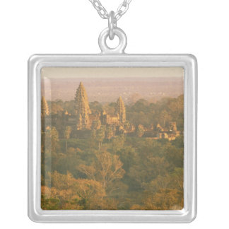 Asia, Cambodia, Siem Reap. Angkor Wat. Silver Plated Necklace