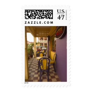 Asia, Cambodia, Siem Reap, coffee shop. Postage