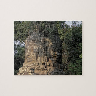 Asia, Cambodia, Siem Reap. Huge stone sculptures Jigsaw Puzzle