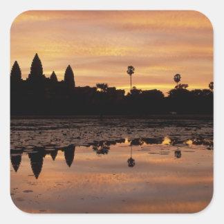 Asia, Camboya, Siem Reap, Angkor Wat (B. 12mo Calcomania Cuadradas Personalizadas
