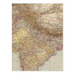 Asia Central, la India Postales