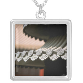 Asia, China, Beijing. Forbidden City, large Silver Plated Necklace