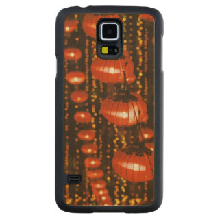 Asia, China, Beijing. Red Chinese lanterns, Carved® Maple Galaxy S5 Slim Case