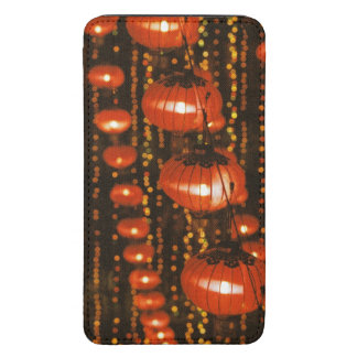 Asia, China, Beijing. Red Chinese lanterns, Galaxy S5 Pouch