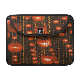 Asia, China, Beijing. Red Chinese lanterns, MacBook Pro Sleeve