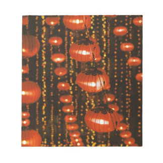 Asia, China, Beijing. Red Chinese lanterns, Notepad
