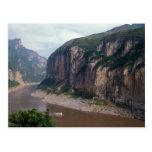 Asia, China, el río Yangzi, Three Gorges. Postal