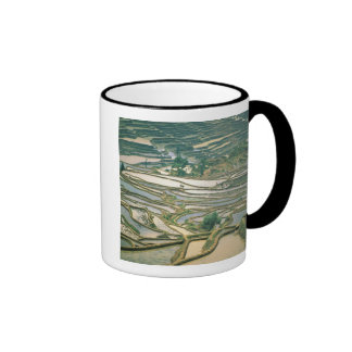 Asia, China. Flooded rice terraces near Nano Coffee Mugs