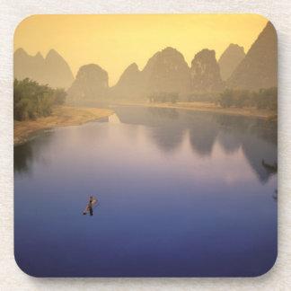 Asia, China, Guangxi Province, Yangshuo. Lone Beverage Coaster