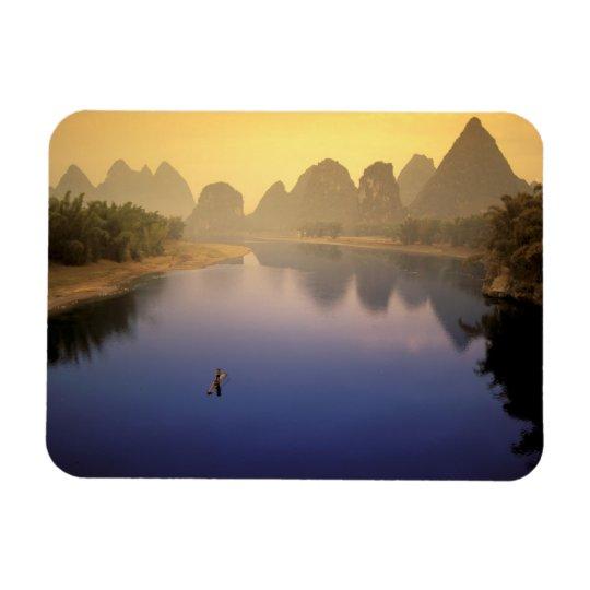 Asia, China, Guangxi Province, Yangshuo. Lone Magnet