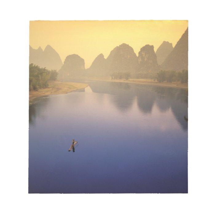 Asia, China, Guangxi Province, Yangshuo. Lone Notepad