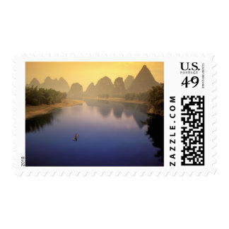 Asia, China, Guangxi Province, Yangshuo. Lone Postage Stamp