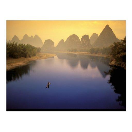 Asia, China, Guangxi Province, Yangshuo. Lone Postcard